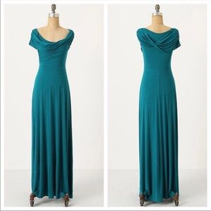 NWT Anthro Plenty by Tracy Reese Cowl Maxi Dress